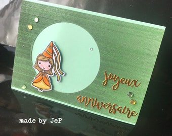 "Little Princess card ""happy birthday!"""