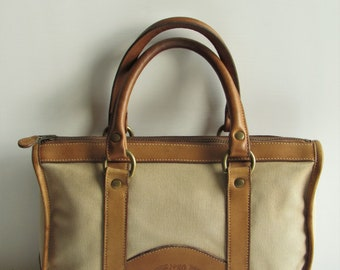 GHURKA No 25 The Collector G1562 Marley Hodgson Khaki Twill & Leather Satchel EC