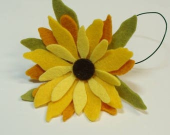 Black Eyed Susan Flower Kit- Makes 1 Wired Flower