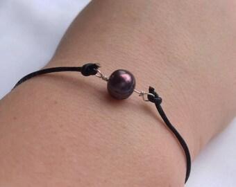 cute purple beaded bracelet