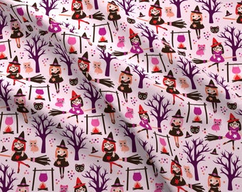 Magic poison and witch halloween fabric by Little Smile Makers - Cotton fabric by the yard with Spoonflower