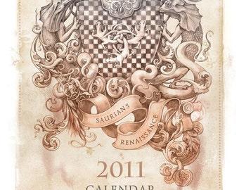 """Calendar """"Saurians Renaissance"""" 2011"""