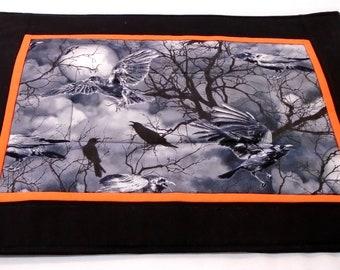 Raven samhain winter nights altar cloth full moon Wicca, witch, pagan, Heathen, Saxon, Asatru,Goth