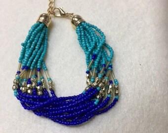 Turqoise and blue bracelet
