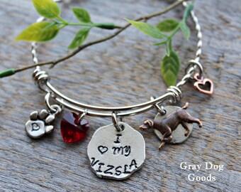 Vizsla Bracelet, Vizsla Jewelry, Vizsla Mom, I Love My Vizsla, Dog Breed Bracelet