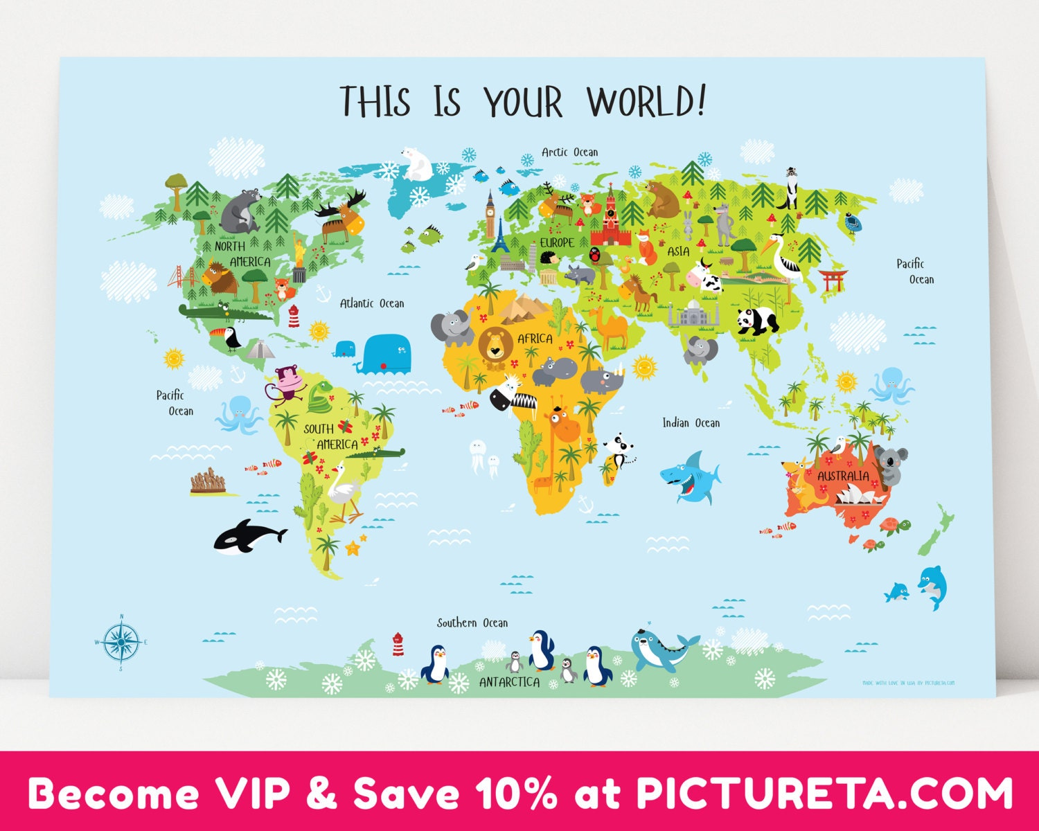 Baby gifts kids world map kids gift unique baby gift first zoom gumiabroncs Gallery