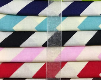 "Riley Blake ""Le Creme"" Medium Chevron 10 Fat Quarter Bundle"