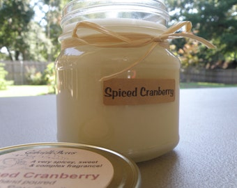 Spiced Cranberry Soy Mason Candle