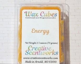Energy Scented Wax Melts, Wax Cubes, Wax Tart, Wickless Candle, Melting Wax, Wax Melt, Scent Bar, Scent Cube, Wax Bar