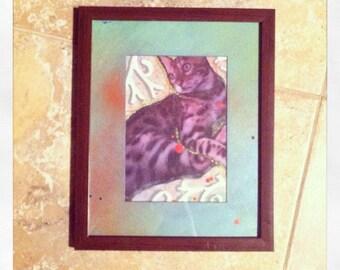 CATegorEYES- Original Mixed Media Artwork.