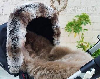 Gabe and Grace Silver Cross Style Lambskin / Sheepskin