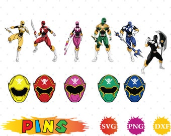 Power Ranger svg,dxf,png/Power Ranger clipart  for Design,Print,Silhouette, Cricut