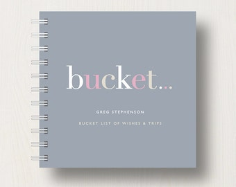 Personalised 'Bucket' List Small Notebook