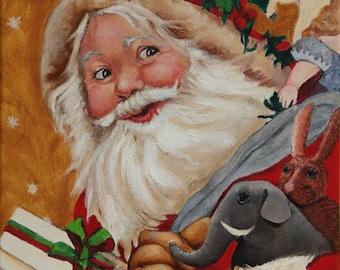 Santa Claus Poster and Canvas Prints , Seasonal Art