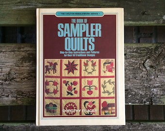 quilt patterns, quilt book, applique designs, book of sampler quilts, traditional quilt patterns, vintage, patchwork quilting, applique