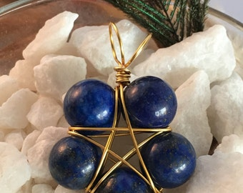 Lapis Lazuli Pentacle Pendant