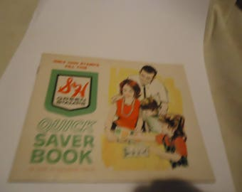 Vintage S & H Green Stamps Quick Saver Book Blank By The Sperry Hutchinson Company, Collectable