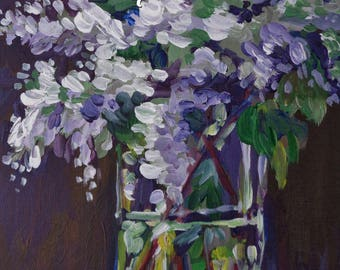 Lilacs in Crystal Painting Lesson + Video