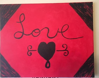 Love, Relationships, Heart, Paintings, Canvas