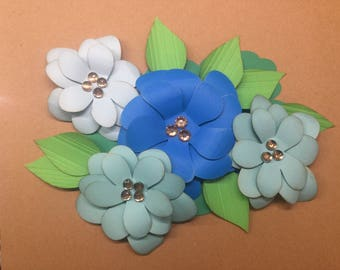 Pretty Paper Flower Bows for Packages/Gifts