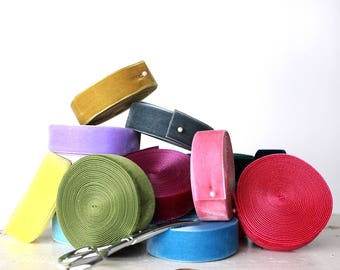 1 inch Nylavour Swiss Velvet Ribbon - 40 Colors -  7/8 inch nylon Swiss velvet ribbon, 7/8 inch polyamide velvet