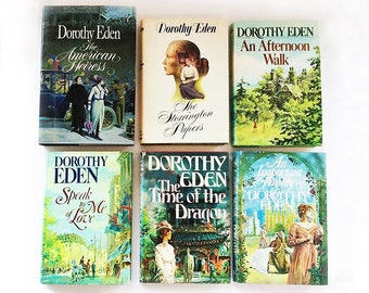 Six Dorothy Eden Novels (Romantic History Mystery), Hardbound (Hardcover or Hardback) Books with Dust Jackets, in Great Condition