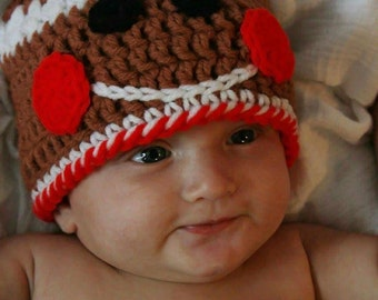 Infant Reindeer or Gingerbread Hat