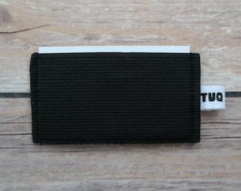 Black slim wallet, minimalist wallet, elastic wallet, black wallet, wallet for men, wallet for women, credit card holder
