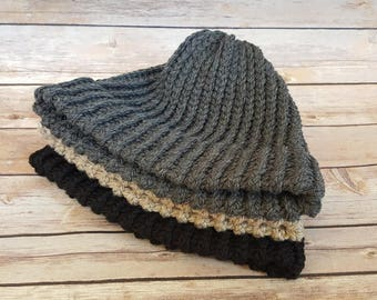 100% Wool Beanie Hat, Knitted Wool Hat, Warm Wool Hat, Dock Worker Beanie Hat, Winter Beanie Hats, Wool Beanie Hat, Men's Wool Beanie Hat