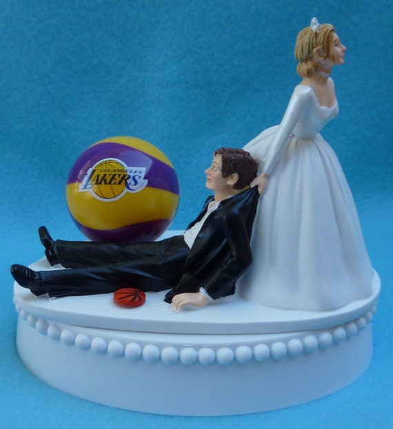 basketball wedding cake toppers wedding cake topper los angeles lakers la basketball themed w 11106