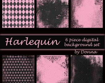 Harlequin Digital Background Set
