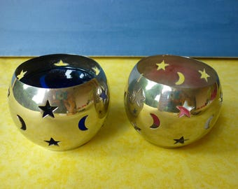 Set of 2 Candle holders silver-plated of the french brand Cyrillus