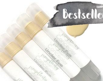 Yellow Concealer - Vegan Under Eye Concealer + Brightener Stick | Cream Concealer | Skin Brightener | Organic | Luminous | Dark Circles