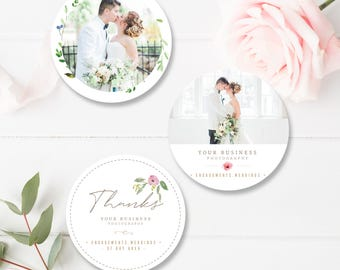 Wedding Photographer Sticker Templates, Wedding Photography Branding, Photoshop Marketing Templates - INSTANT DOWNLOAD