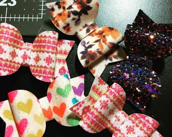 All Things Girley Glitter Bow SET of 5 BOWS