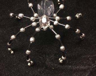 Silver and Black Spider Ornament