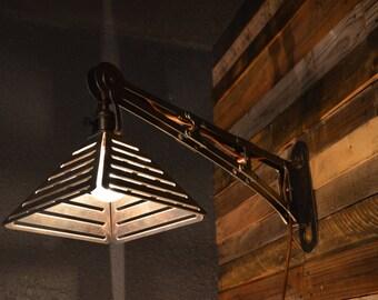 Industrial Swingarm Pendant Sconce lamp