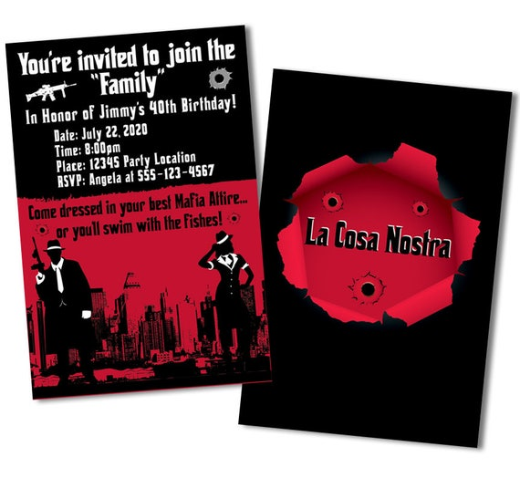 Relatively Gangster Wedding Invitations KY22 Advancedmassagebysara