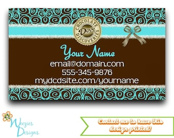 Dove Chocolate Business Card, Direct Sales Marketing, Independant Consultant, Directs Sales Business Card