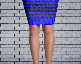 Women's Americana Blue USA Flag Skirt