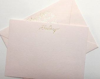 Gold Foiled Personalized Stationary Set