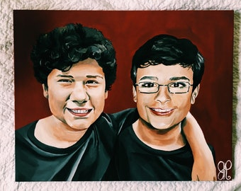 Custom Painted Portraits of Loved Ones or Celebrities
