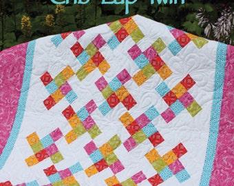 "The Twist 2-1/2"" Strip Quilt Pattern - Multiple Sizes  -  PDF version"