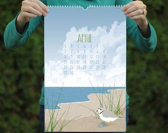 Wand Kalender / 2018 Kalender / Wildlife Kalender