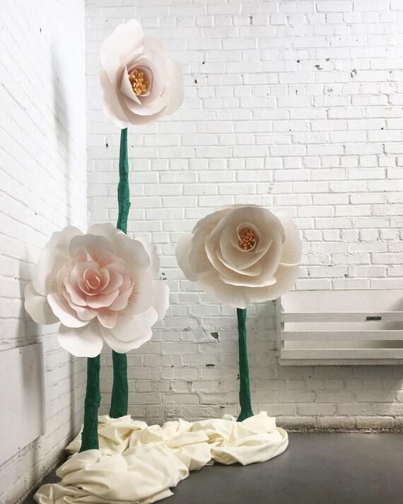 Giant paper flowers paper flower sculpture wedding flowers mightylinksfo