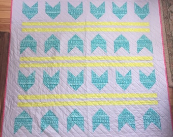 Bows and Arrows Lap Quilt