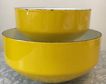 Michael Lax RARE Set of Two Enamelware Bowls, COPCO Bowls Designed by Michael Lax