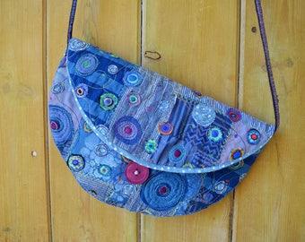Blue circles bag