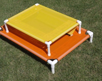 Custom Made Size Dog Beds, Raised Cot MESH Window Pet Screen, 4 Sizes To Choose From, Dog Bed, Large Bed, 11 Colors, Dogs Up To 130 Pounds.
