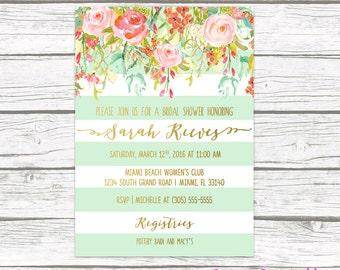 Succulent Bridal Shower Invitation Floral Bridal Shower